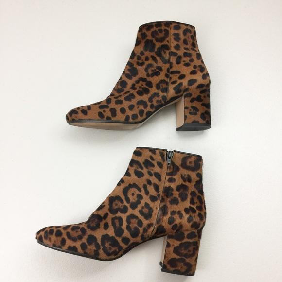 Zara Shoes | Zara Leopard Ankle Boots
